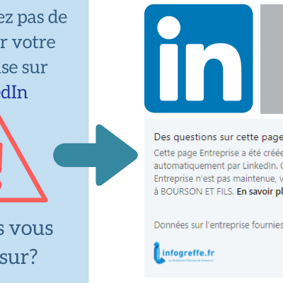 Linkedin Page Entreprise infogreffe